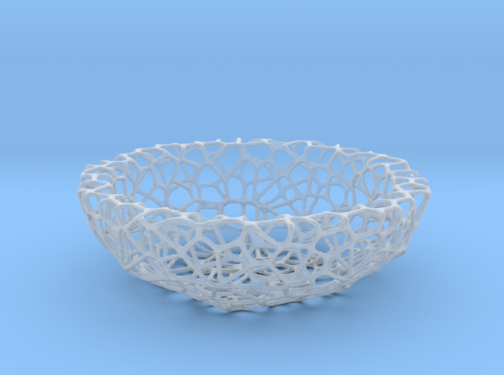 Mini shell / bowl (4 cm) - Voronoi-Style #1 3d printed