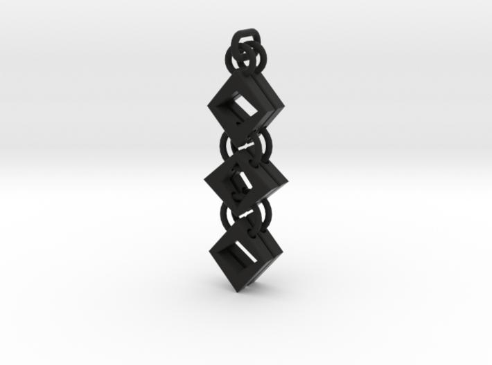 Diamond Drop Earrings 3d printed