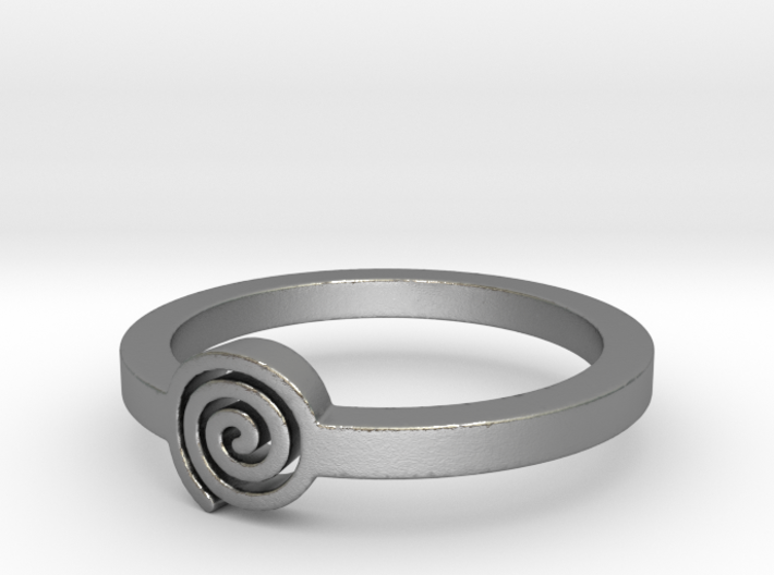 Spiral Ring Size 11 3d printed