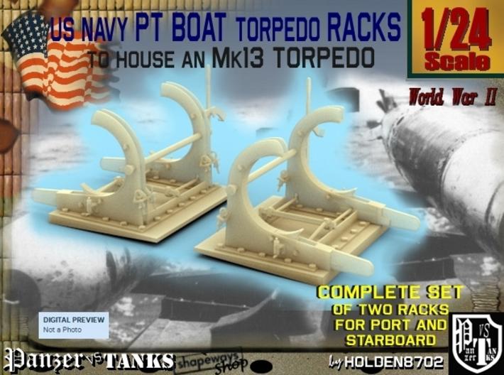 1-24 PT Torpedo Rack TypF 3d printed
