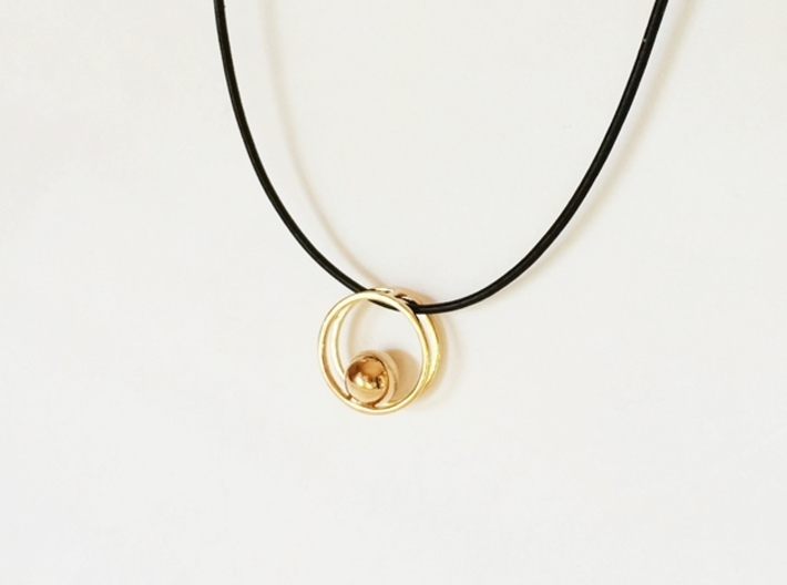 Minimalist Necklace - Yoga Pendant 3d printed Modern Jewelry