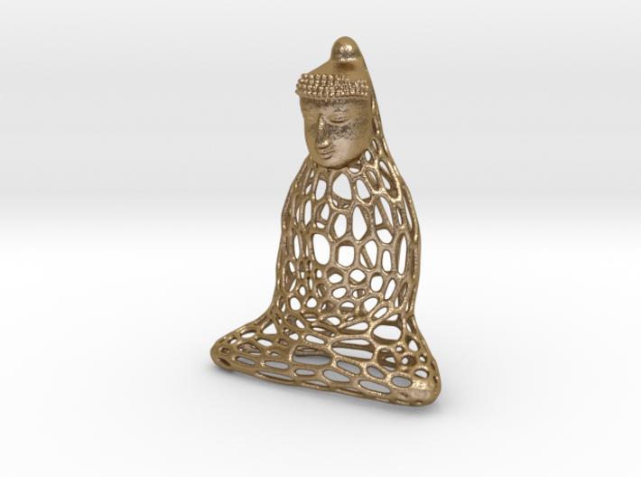 Golden Buddha 3d printed