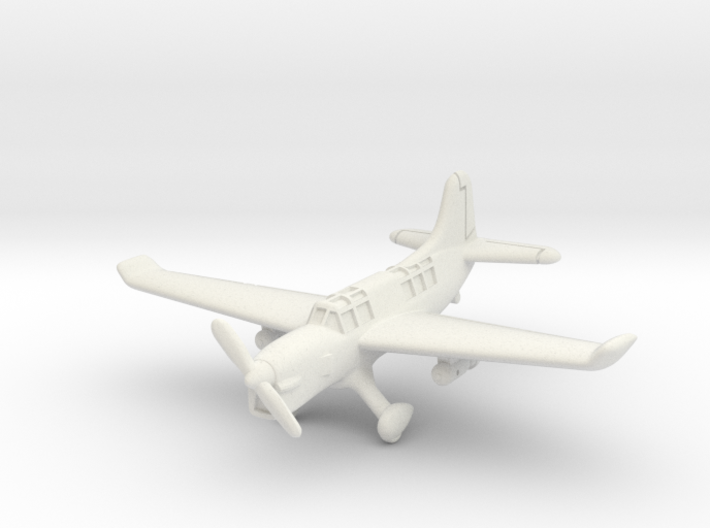 Curtiss SO3C Seamew (with landing gear) 6mm 1/285 3d printed