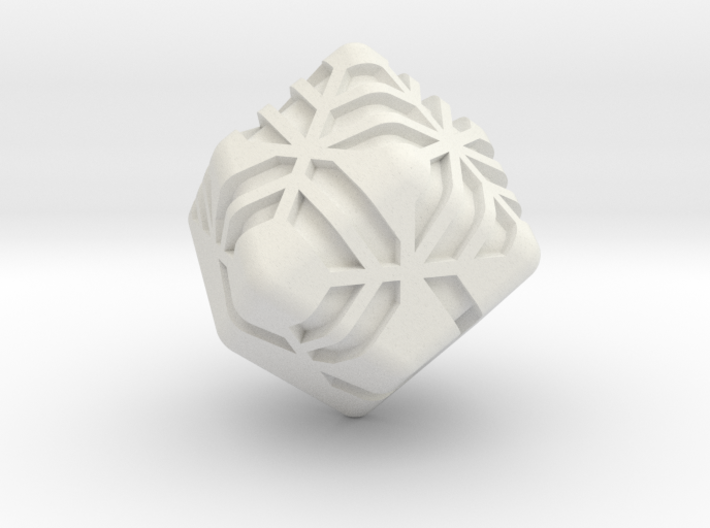 Stripes D12 (rhombic dodecahedron version) 3d printed