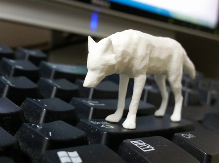Lowpoly Wolf 3d printed Perfect size to guard your keyboard!