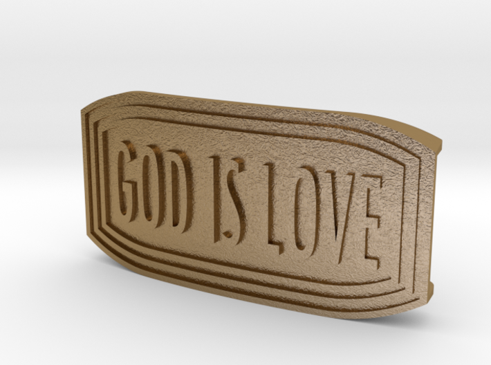 UM Buckle (GOD IS LOVE) 3d printed