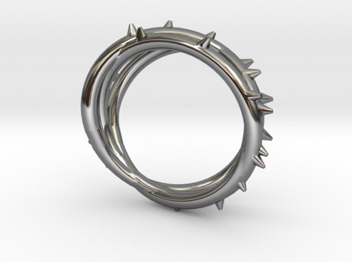 Rose Thorn Ring - Sz. 10.5 3d printed