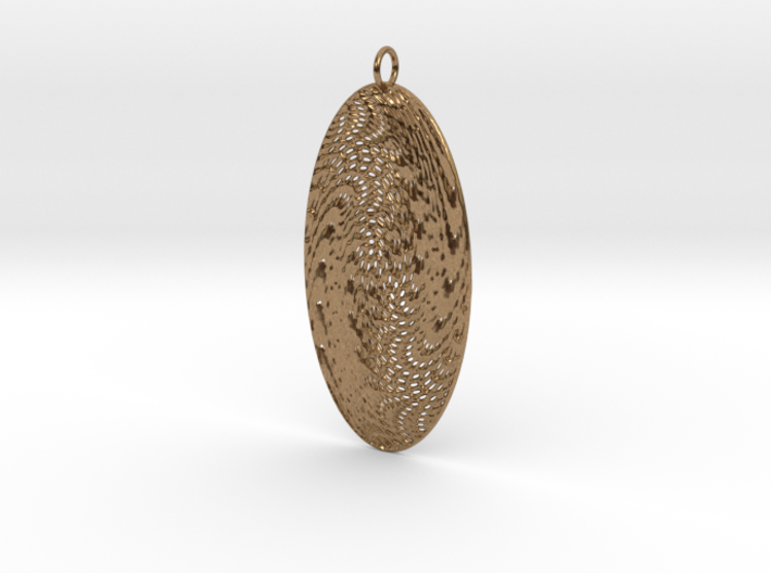 Texture Earring #5 3d printed