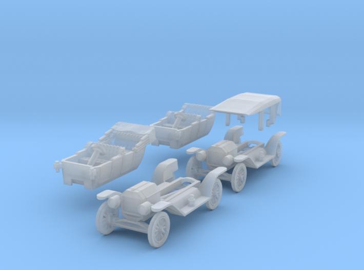 SET 2x Ford Model T (N 1:160) 3d printed