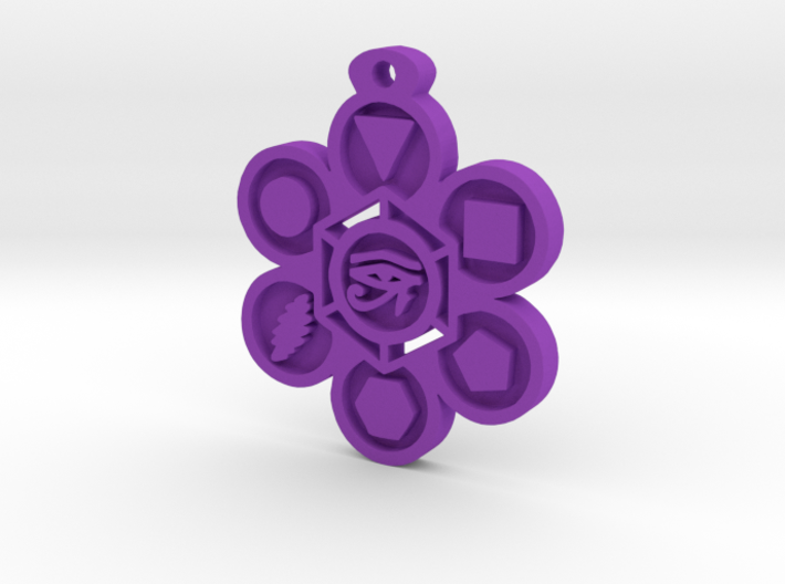 Stages of Creation Pendant 3d printed