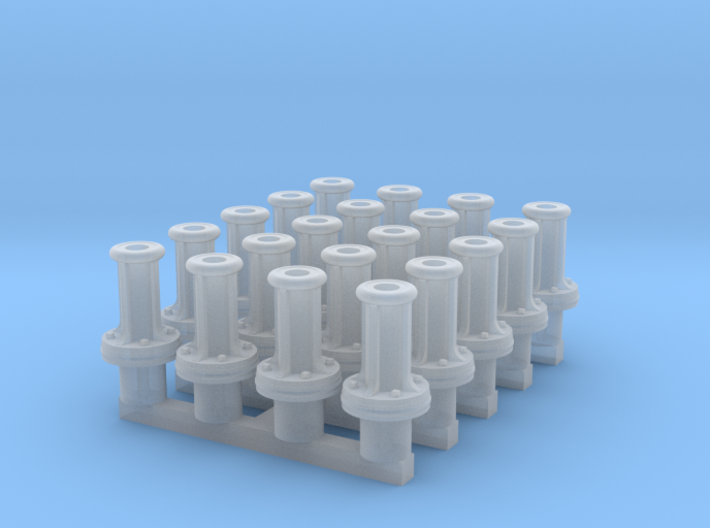LCDR buffer-guides for wagons x20 3d printed