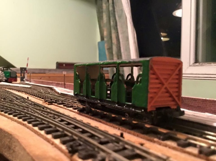 F&WHR Hudson Toastrack Coach No39 or 42 3d printed Finished as no39