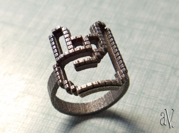 Superfunkycalifragisexy Ring 3d printed