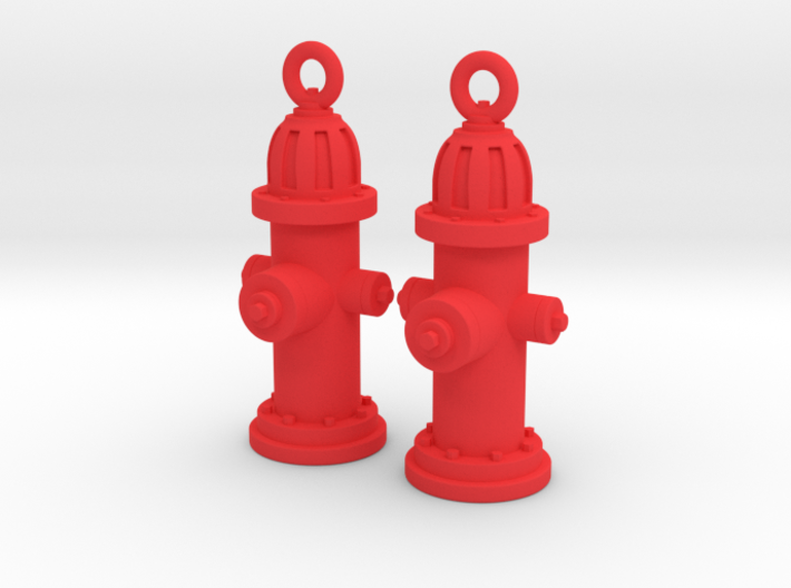 Fire Hydrant Earrings 3d printed