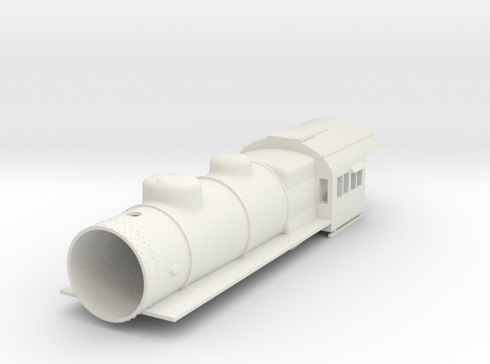 PRR E6 S Scale Basic, Empty Smokebox 3d printed