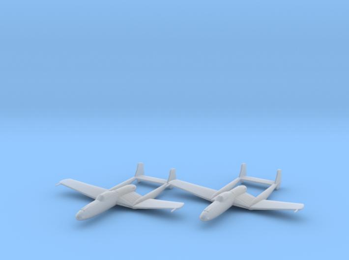 Vultee XP-54 'Swoose Goose' 1:200 x2 FUD 3d printed