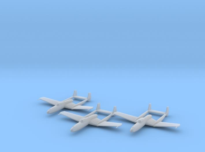 Vultee XP-54 'Swoose Goose' 1:200 x3 FUD 3d printed