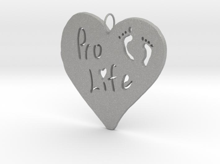 Pro Life Heart Pendant 3d printed