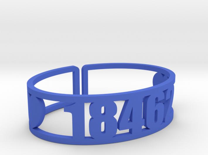 Island Lake Zip Cuff 3d printed