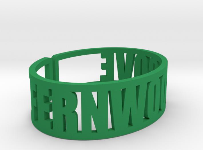 Fernwood Cove Cuff 3d printed