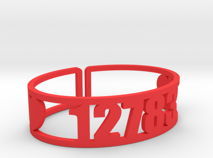 Silver Lake Zip Cuff 3d printed