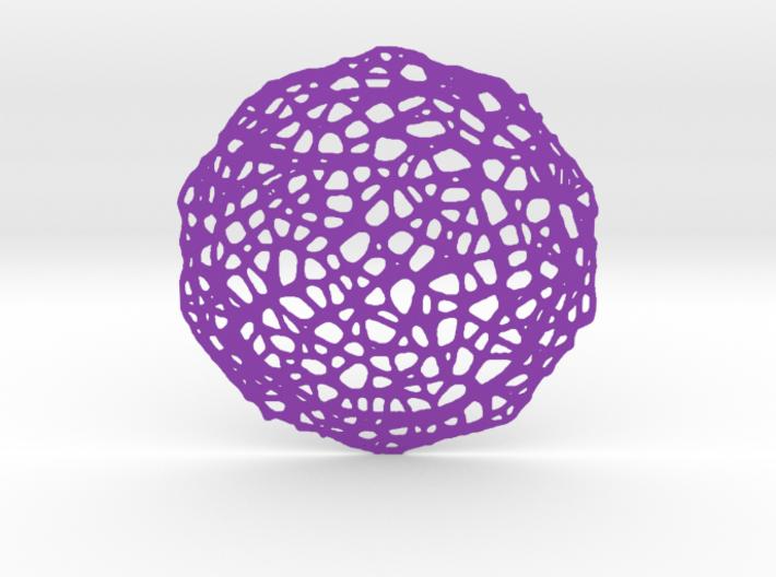 Coaster - Voronoi #7 (13 cm) 3d printed