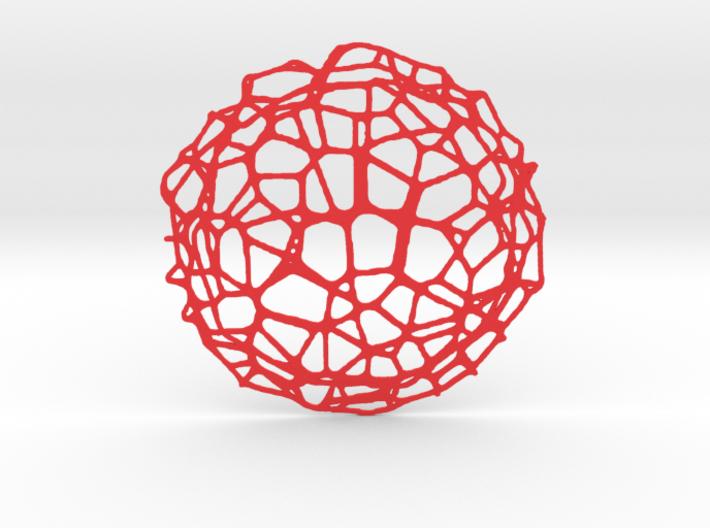Drink coaster - Voronoi #9 (9 cm) 3d printed
