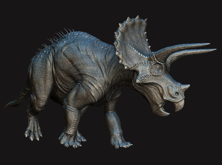 Triceratops 1/72 (No Quills) - DeCoster 3d printed