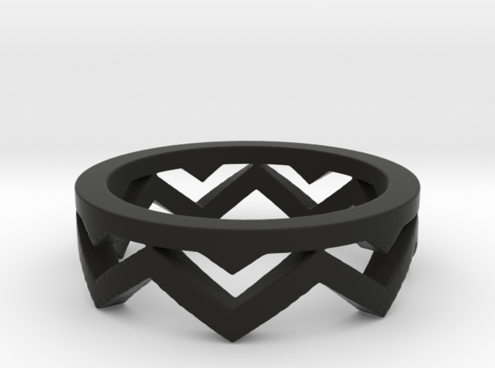 Chevron Ring 3d printed