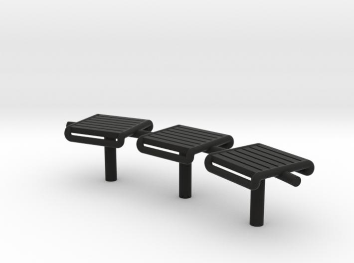 Bench Modern Metal - HO 87:1 Scale 3d printed