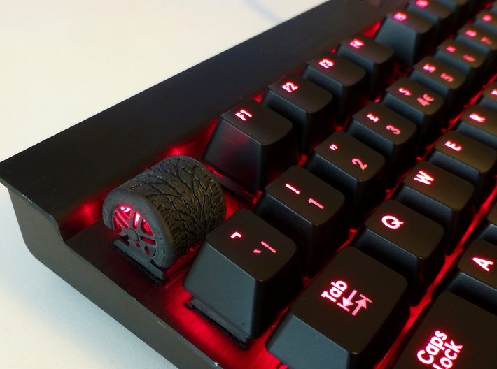 Cherry MX Tyre Keycap 3d printed Tyre Cherry MX Keycap printed in Black Hi-Def Acrylate