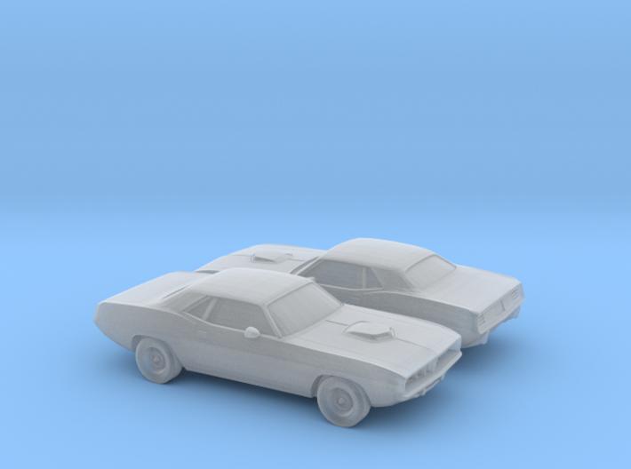 1/160 2X 1971 Plymouth Baracuda 3d printed