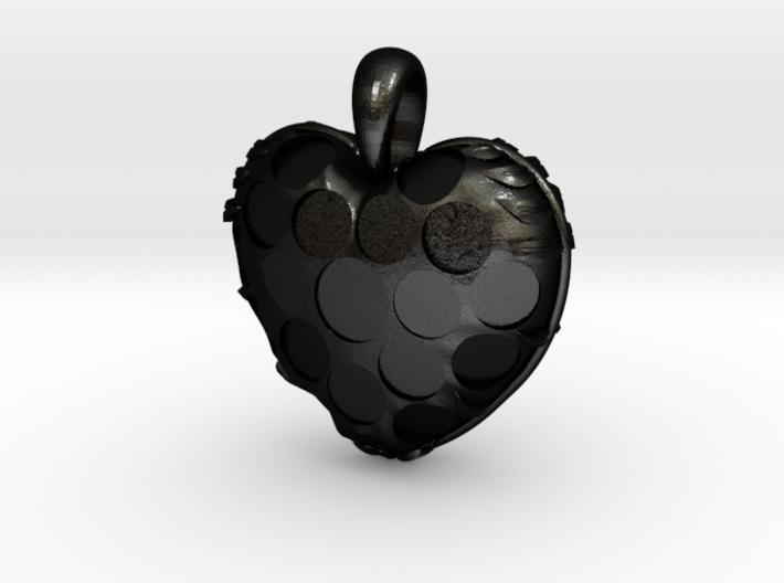 Custom Heart Pendant 3d printed
