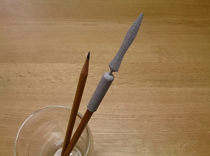 Yari (Japanese spear) Pen Cap 3d printed Yari (Japanese spear) Pen Cap (Alumide)