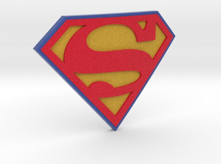 Superman Logo 3d printed