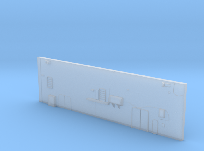 1:350 Scale Nimitz Class Hangar Back Wall Early Ty 3d printed