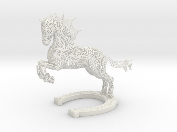 Rocinante Horse Sculpture 3d printed Rocinante Horse Sculpture in White Natural Versatile Plastic