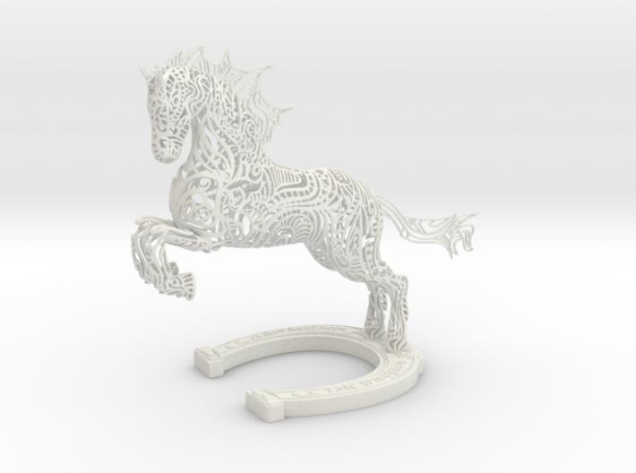 Rocinante Horse Sculpture 3d printed Rocinante Horse Sculpture in White Natural Versatile Plastic