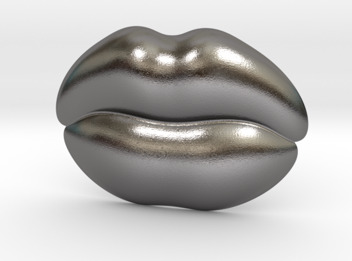 Kiss Me Belt Buckle 3d printed