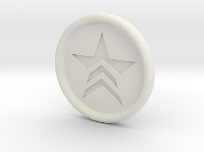 Mass Effect Renegade badge 3d printed