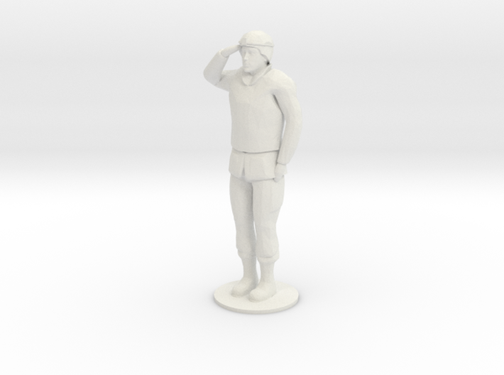 Male Soldier Salute 3d printed