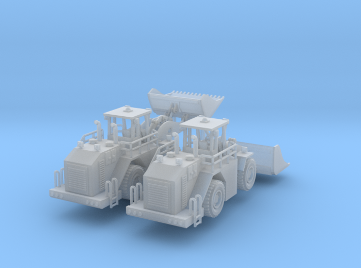 2 Cat 988 Bucket Loaders Z Scale 3d printed 2 Cat 988 Bucket loaders Z scale