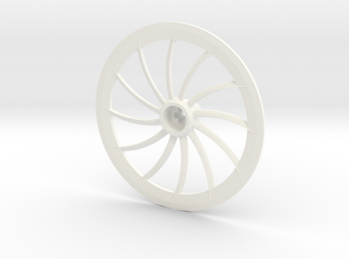 Turbine Hubcap Without Axle--LH 3d printed