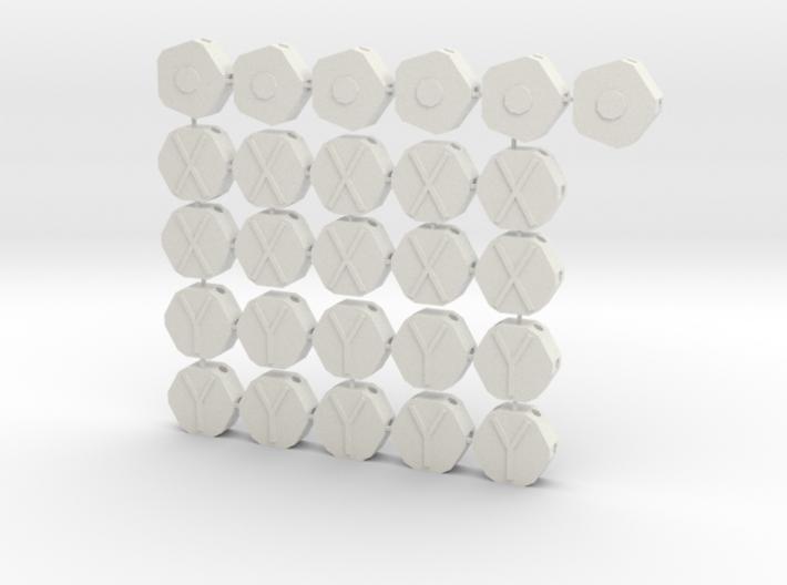 MGD-01, MGD-02, MGD-04: A Set with 26 dome-pieces 3d printed