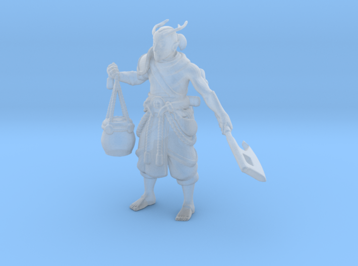 Elf Primal Barbarian 3d printed