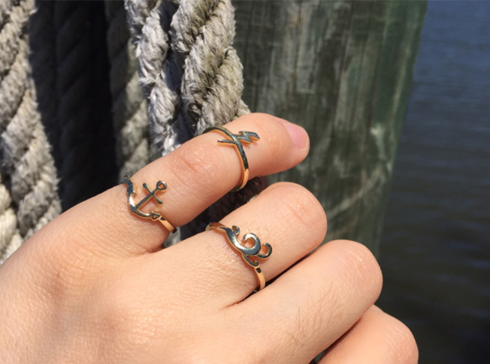 Anchor Ring (Troubled Waters Trio) 3d printed