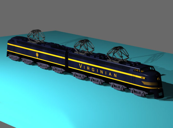 VGN EL-2B Virginian 3d printed **Note: Pantographs for reference only and are not included with this model