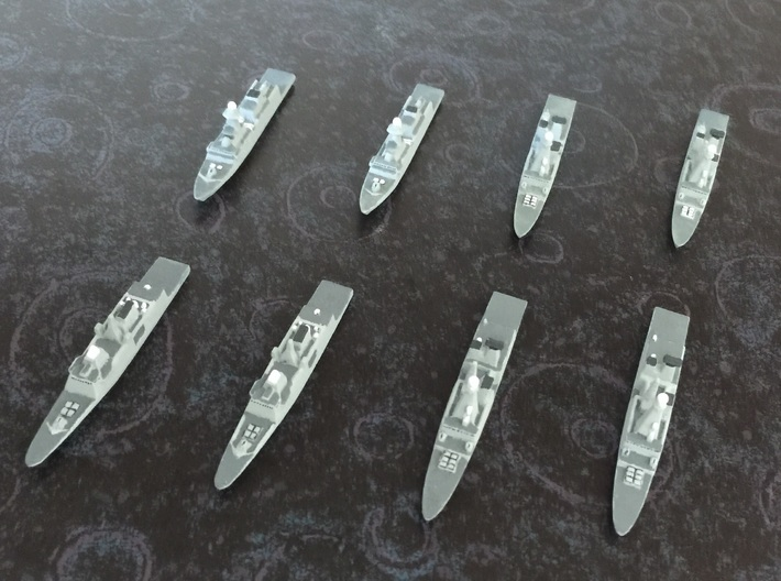 FREMM & Horizon Frigates Pack, 1/1800 3d printed Painted Sample