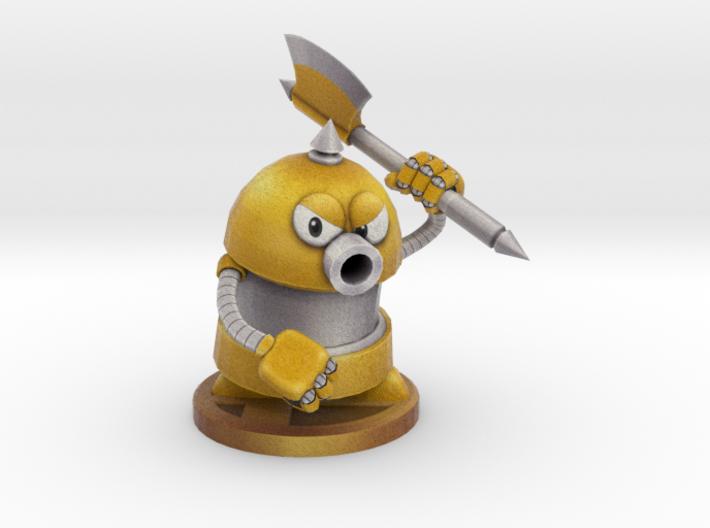 Axe Robot Yellow 3d printed