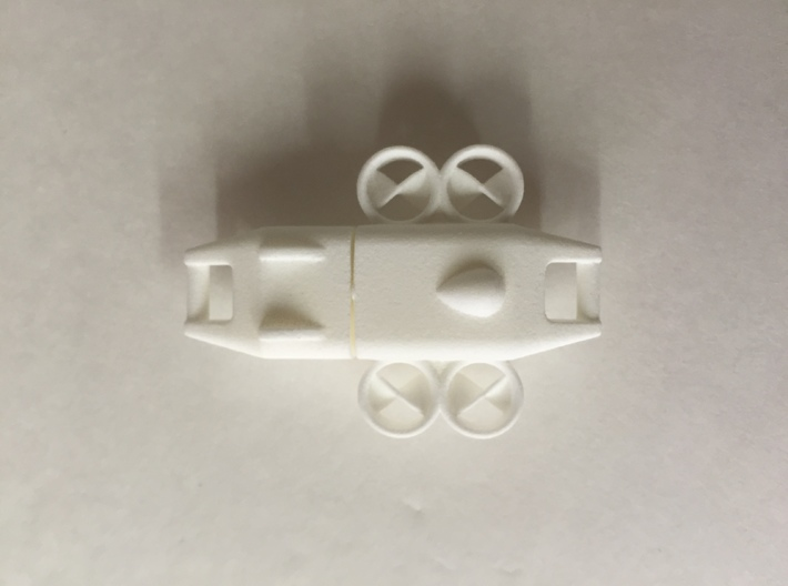 Keychain Ducted Fan Quadcopter 3d printed Picture of part